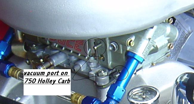 where do i hook up vacuum advance on holley carb