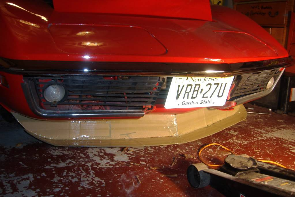 Custom front splitter/air dam and brake ducts