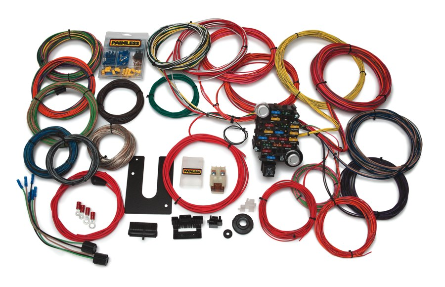 new painless wiring 10220 trunk mount 18 circuit wiring harness Universal Painless Wiring Harness