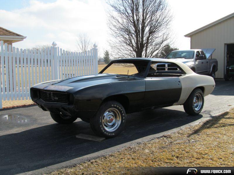 1969 Camaro Rolling Project Car Rock Solid Los California Built 69