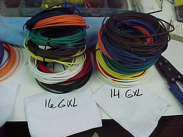 18 GAUGE 25/' EACH COLOR TEN 10 COLORS AUTOMOTIVE  WIRE HIGH TEMP TXL WIRE