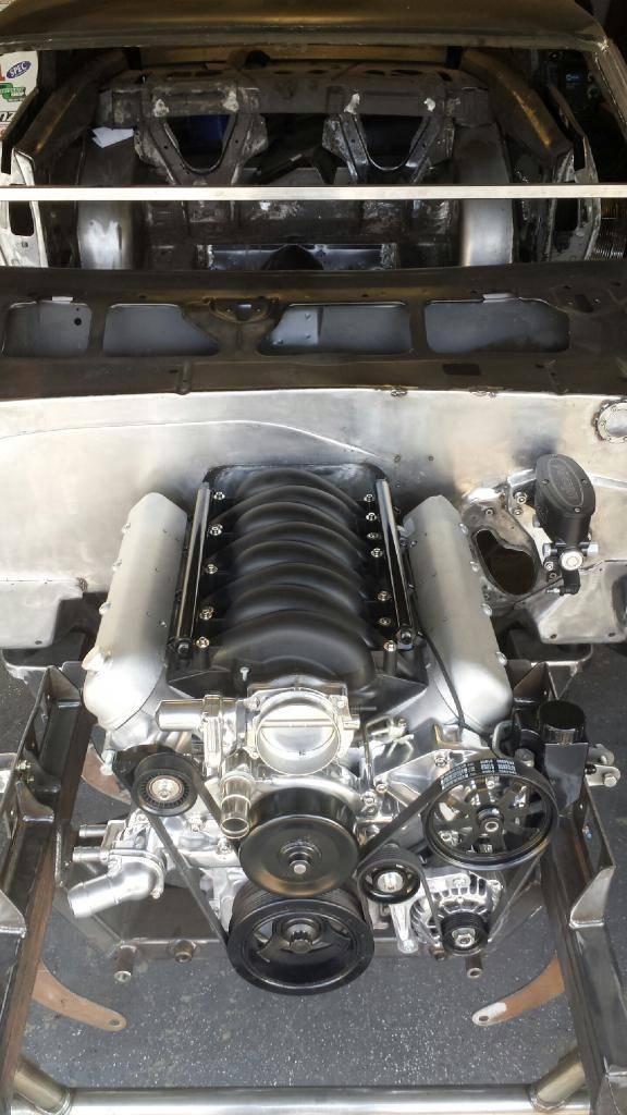 FS LS3 Intake Manifold, Polished TB,Black Holley Fuel Rails