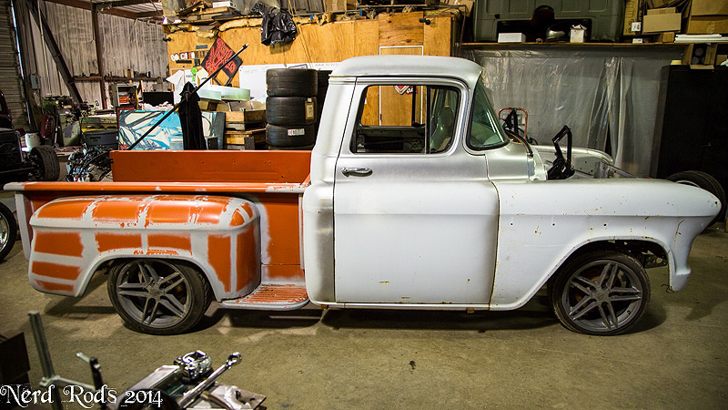 Nerd Rods, 55-59 Truck Frame Project 1956, C4 suspension