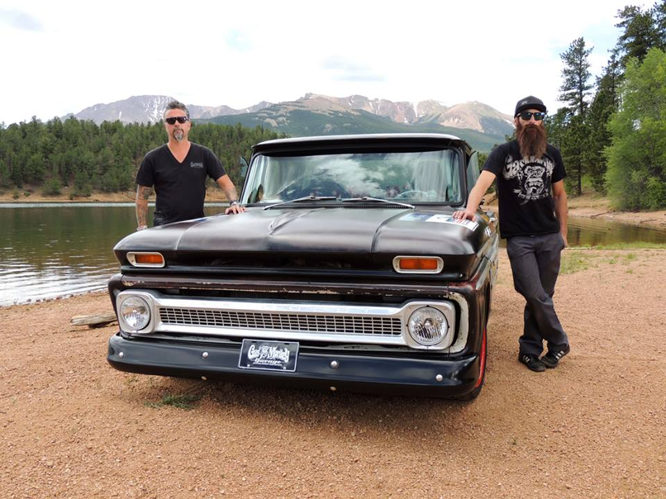 gas monkey garage 39 65 chevy c10 pikes peak pace truck on. Black Bedroom Furniture Sets. Home Design Ideas