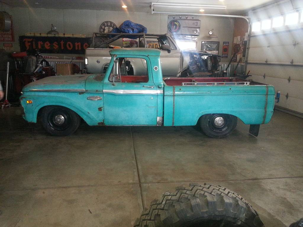 66 Ford F100 & 2004 Crown Vic body swap