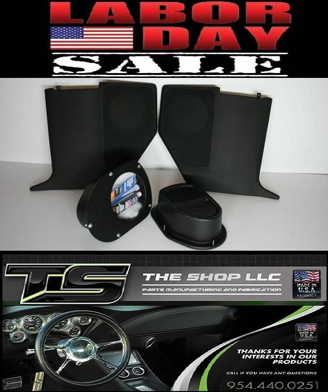67-69 Camaro kick panel, tray combos on sale